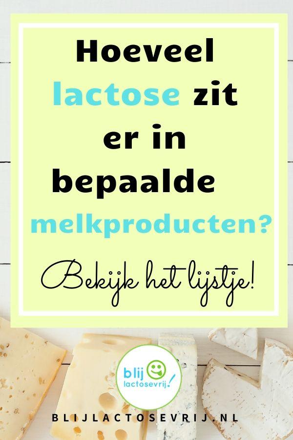 Hoeveel lactose zit er in melkproducten, bekijk het lijstje