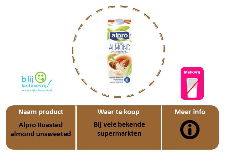 Alpro lactosevrije en melkvrije amandelmelk ongezoet