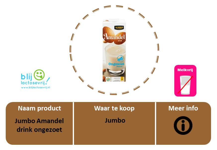 Jumbo lactosevrije en melkvrije amandelmelk ongezoet
