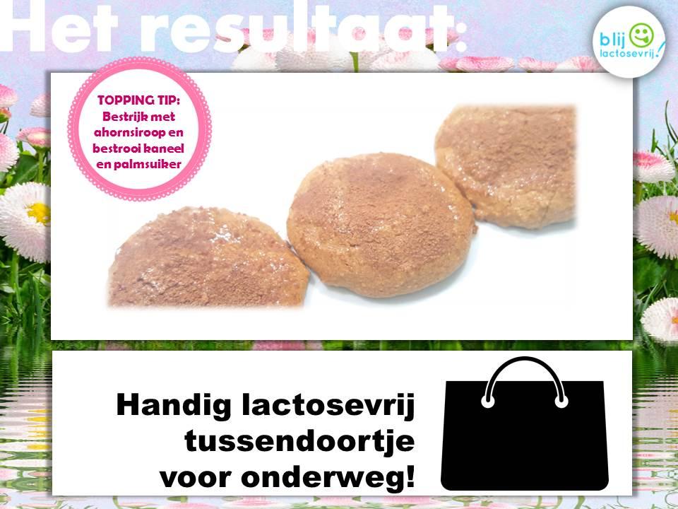 Recept lactosevrije en koemelkvrije kaneelkoekjes met kaneel toppping