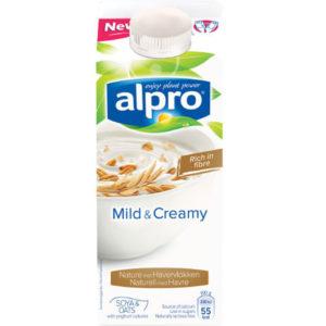 Alpro Mild & Creamy Natural met havervlokken Albert Heijn