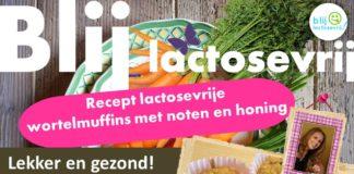 Lactosevrije wortelmuffins met noten en honing