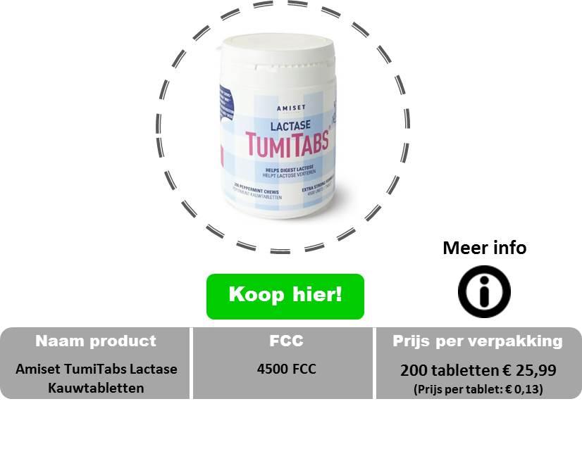 Amiset Tumi tabs lactase kauwtabletten 4500 fcc