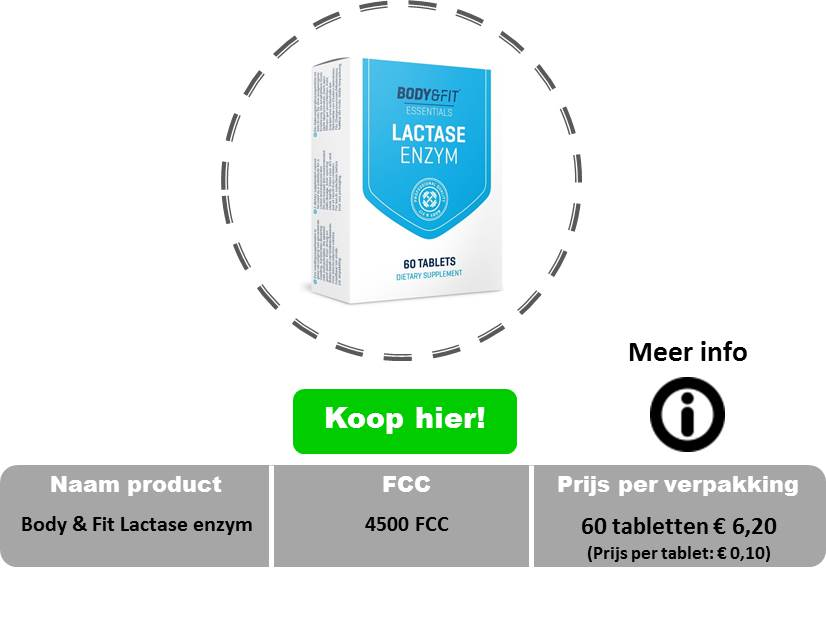 Body en fit lactase enzym tabletten 4500 fcc