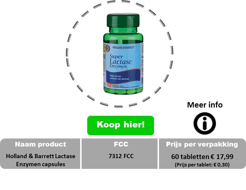 Holland & Barrett Lactase Enzymen capsules