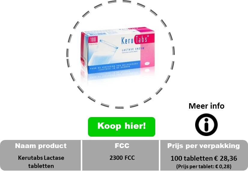Kerutabs lactase tabletten 2300 fcc