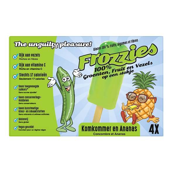 frozzies ananas komkommer lactosevrij ijs ijsjes