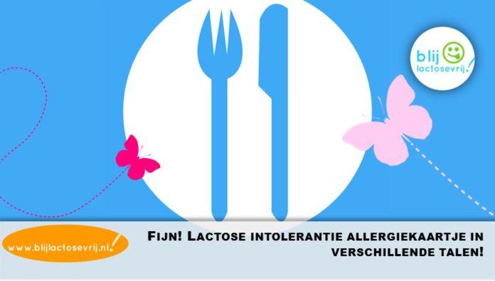lactose intolerantie allergenenkaartje allergiekaartje talen