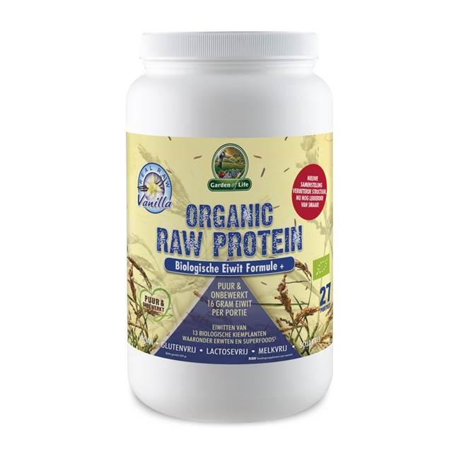 Garden of Life Organic Raw Protein Vanilla lactosevrij