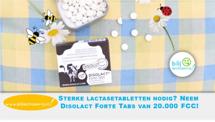 Sterke lactasetabletten nodig neem Disolact Forte Tabs van 20000 FCC